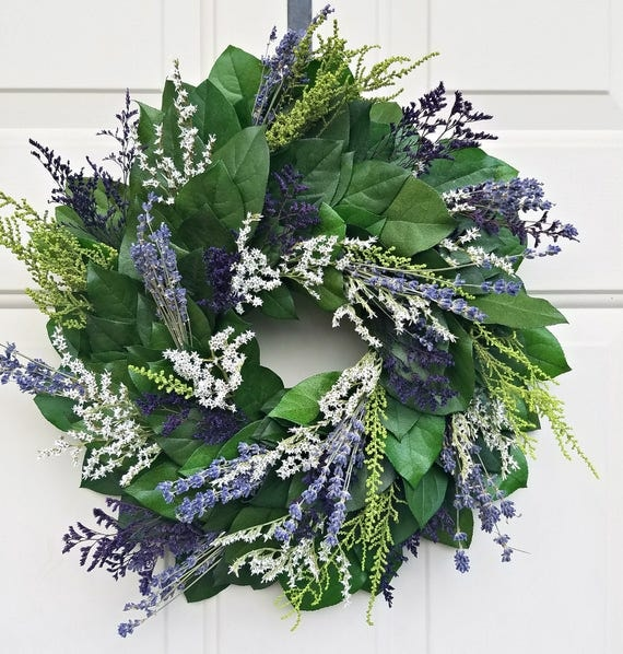 "Lavender wreath, 15"" wreath, dried lavender wreath,  wreath, leaf wreath, preserved wreath, decorative wreath, fragrant wreath"