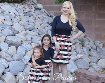 Mother Daughter Matching Dress | Mommy and Me Outfits | Mommy and Me Dress | Mom and Baby Outfits | Matching Family Outfits
