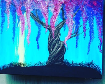 Painting weeping willow