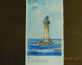 The oven on arches watercolor lighthouse