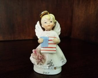 Lefton July Angel with American Flag
