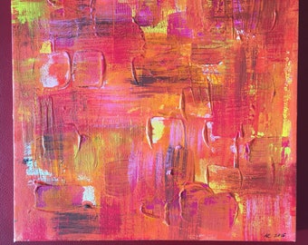 "Abstract Painting ""Think Pink"""