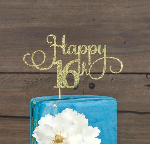 sixteen cake topper 16 birthday decorations birthday cake topper