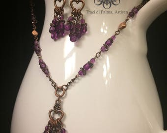 Purple Passion Necklace and Earrings