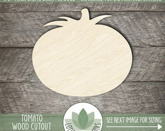 Wood Tomato Cut Out, Laser Cut Tomato Shape, Unfinished Wood For DIY Projects, Many Size Options, Wood Vegetable Cut Out, Wooden Tomato