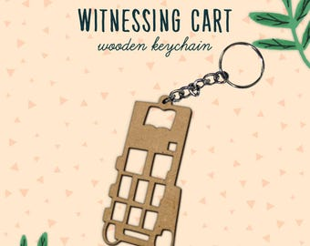 Witnessing Cart Keychain | JW Keychain | Pioneer Keychain | Pioneer Gifts | Pioneer School Gifts| JW Gifts | Convention Gifts JW