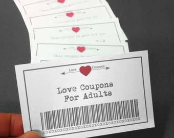 Love Coupons, 39 Printable Coupons, Valentine Printable, Downloadable Gifts, Instant Download, Gift For Her, Gift For Him, Valentines Day