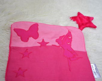 Available * cotton fleece fairy square blanket