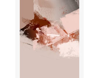 Digital Art Print by Michael Hunter BA Hons. Neutral Colours. Modern Interior Design. Art Decor. Art Gallery. Abstract Designs. Signed Print