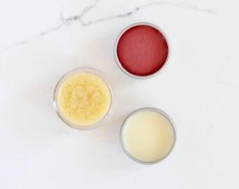 Lip Balm Set - Gift Set - Lip Trio - Natural Skincare - Organic Skincare - Lip Tint - Lip Balm - Lip Scrub