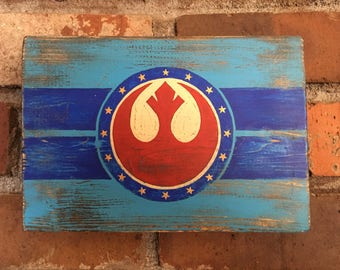 Star Wars inspired Rebel Alliance distressed wall art (small)