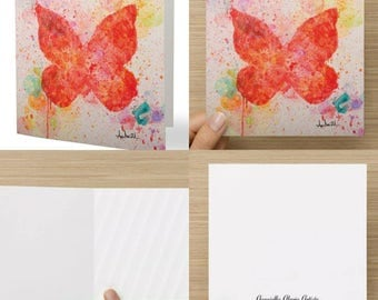 Stationery, Illustration, Greeting Cards Butterfly, Wish Cards, Art, Celebration, Holiday, Party, Event, Item # C008-Explosion