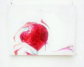 Originale Malerei auf Leinwand von Buttafly (Vanessa Brünsing) - Eden - 2013 - 60 x 80 cm - Kunstwerk