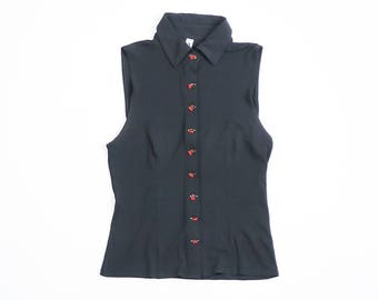 MOSCHINO - Sleeveless Silk bluse