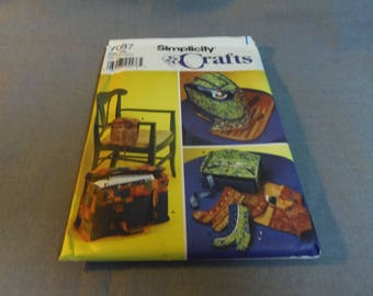 Sewing Accessories, Sewing Machine Carry Case, Scissor Holder, Needle Tote, Box with Drawer, Uncut, Simplicity 7087, 2002