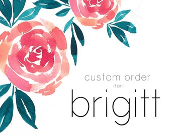 Custom Order for Brigitt   Blue Agate Place Cards with White Ink