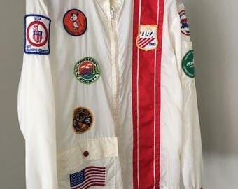 Vintage patched track jacket