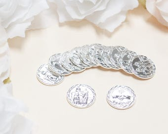 Silver Arras Coins, Wedding Coins, Wedding Arras Coin, Wedding Arras, Wedding Unity Coins, Ceremony Arras Coins, Las Arras Matrimoniales