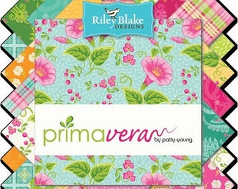 Sale Primavera Bundle by Patty Young for Riley Blake, Choose Your Bundle Size, Complete Collection, 21 Fabrics