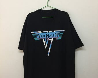 Van Halen Band T-Shirt/Van Halen Live On Tour 2015 T-Shirt/Black/Size XL