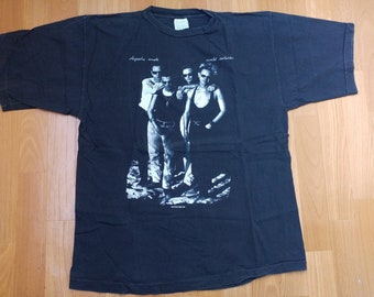 Vintage Depeche Mode t-shirt, 1990 World Violation Tour Shirt, concert tour 2 sided 1990s authentic 90s new wave, punk rock t-shirt, size XL