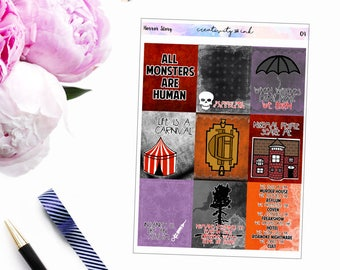Horror Story // Weekly Planner Kit