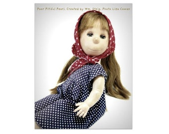 poor pitiful pearl, pitiful pearl, magnet, vintage doll, william steig, doll portrait, 1950's doll, vintage childhood, favorite doll,