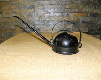 Vintage Black Oil Can or Watering Can with Handle