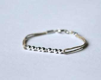 Natural hemp morse code bracelet  | Morse code bracelet  | Secret code bracelet  | Summer bracelet  |  Gift for her | Bridesmaid gift