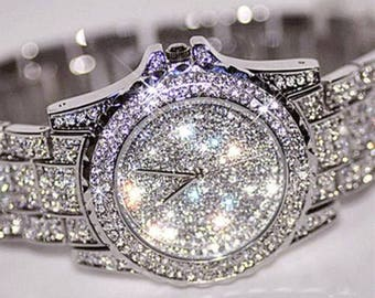 Country Bling Silver Rhinestone Watch - Stainless Steel