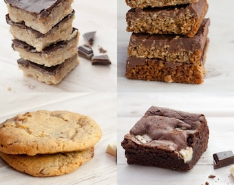 Chocolate Bake Selection; Brownies, Cookies, Chocolate Flapjacks, Millionaire's Shortbread