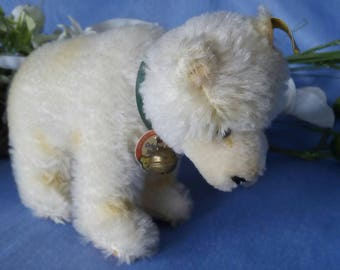 Vintage Steiff Ice cub, 12 cm, all ID, near mint condition