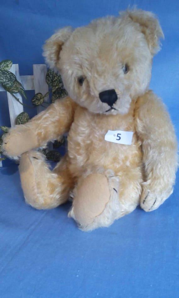 Vintage Steiff original Bear, honey coloured, 35 cm tall, no ID