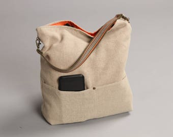 Linen Bag, Bucket Bag, Beach Bag, Casual Tote Bag, Day Bag, Summer Tote, Hobo Tote, Linen Tote Bag, Natural bag, Boho Tote Bag, Weekend Bag