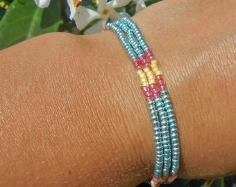 Minimalist bracelet with miyuki beads and seed beads miyuki, gift idea celebrating the grand mothers, Easter