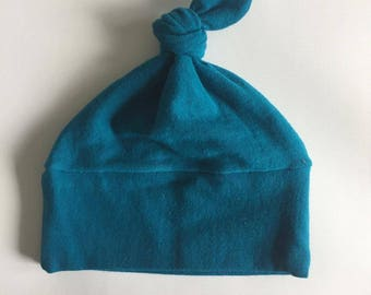 Baby bonnet; Hat with bow; Unisex