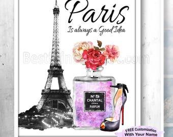 Paris Wall Art, Paris Bedroom Prints, Paris Artwork, Paris Bedroom Decor,Girls Room Prints,Girls Room Art,Teen Room Art,Paris Bathroom Decor