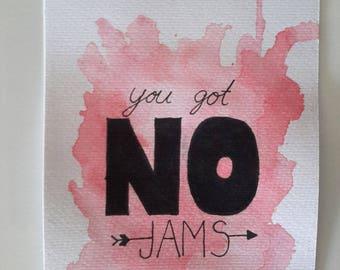 "BTS (방탄소년단) ""You got no jams"" Watercolour Typography"