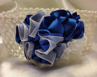 Girls Royal Blue Princess Headband