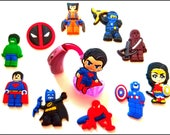 Cochlear Implant and Hearing Aid Trinkets: Super Hero Inspired Cartoon Characters! Please select quantity 2 for a pair!
