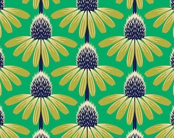 Freespirit- Anna Maria Horner- Floral Retrospective - Echinacea in Preppy