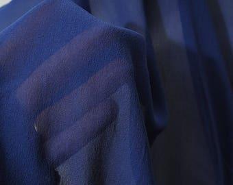 Silk veil crepee blue n ° 437 130 cm by 50cm