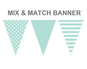 Turquoise color banner,printable Turquoise banner,mix and match banners,cake smash props,cake smash background banner
