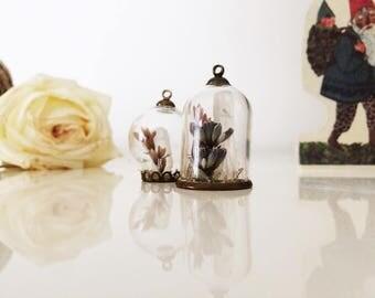 Mini Monde/Mini Terrarium Globe-Microcosm cruet set brooch