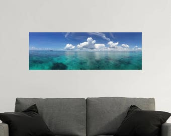 PANORAMIC Wall Decal - Ocean Wall Decal - Ocean Decals - Ocean Wall Art - Panoramic Wall Art - Ocean View