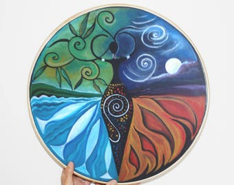 Shamanic Drum - Goddess of the Elements