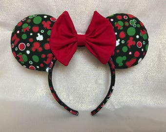 Bows and heads Christmas Mouse Ears