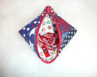 Sweet Pea Pod, Zipper Pouch, Lined Zipper Bag, Gift Bag, Treat Bag