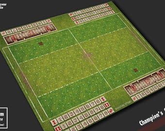 Battle mat: Champion's Bowl - Blood Bowl game board, table map scenery for fantasy football boardgame terrain