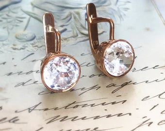 Russian Antique Paste Gold Earrings